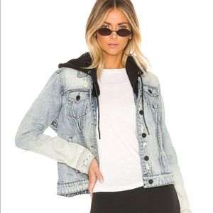 Blank NYC Denim Jacket with Removable Hood NWT